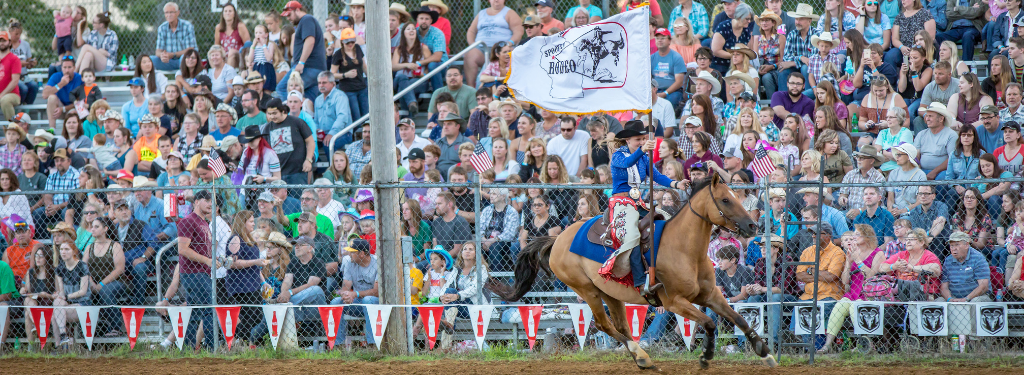 Royalty Lap at Spooner Rodeo, Washburn County; Photo: James Netz Photography