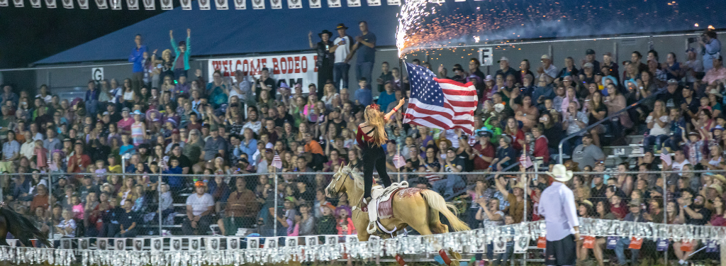 Specialty Act at Spooner Rodeo, Washburn County; Photo: James Netz Photography
